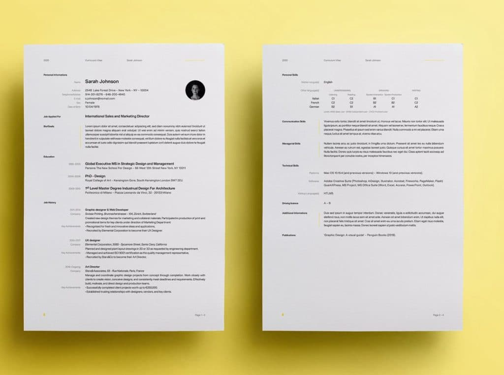 Example of UX-proof Resume