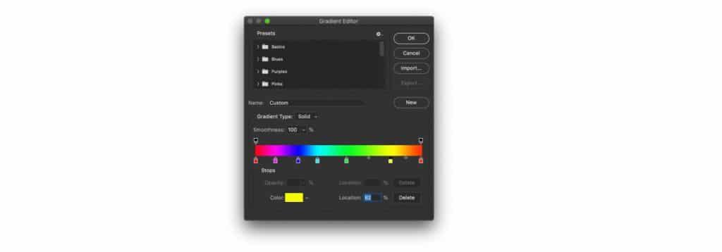 Graphic design is my passion rainbow background gradient editor